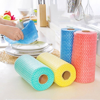 Life83 Kitchen Disposable Non Woven Fabrics Washing Cleaning Cloth Towels Striped Eco Friendly Practical Rags Wiping