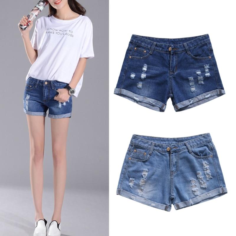 2017 Women's   Denim Shorts Vintage Ripped Curl Loose Pockets Punk  Jeans AUG30_20 брюки горнолыжные rip curl rip curl ri027emzlc69