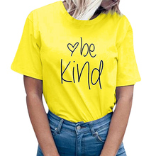 Be Kind Heart Love Print Women Shirts Harajuku Cottton Graphic Tee Shirt Aesthetic T Shirts Tumblr Honey Bee Kind Funny Tee Top