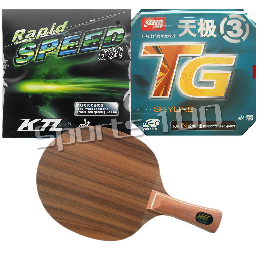 Pro Table Tennis PingPong Combo Racket HRT Rose7 Long Shakehand-FL with DHS NEO Skyline TG3 KTL Rapid Speed 2015 The new listing  hrt 2091 blade dhs neo hurricane3 and milky way 9000e rubber with sponge for a table tennis racket shakehand long handle fl