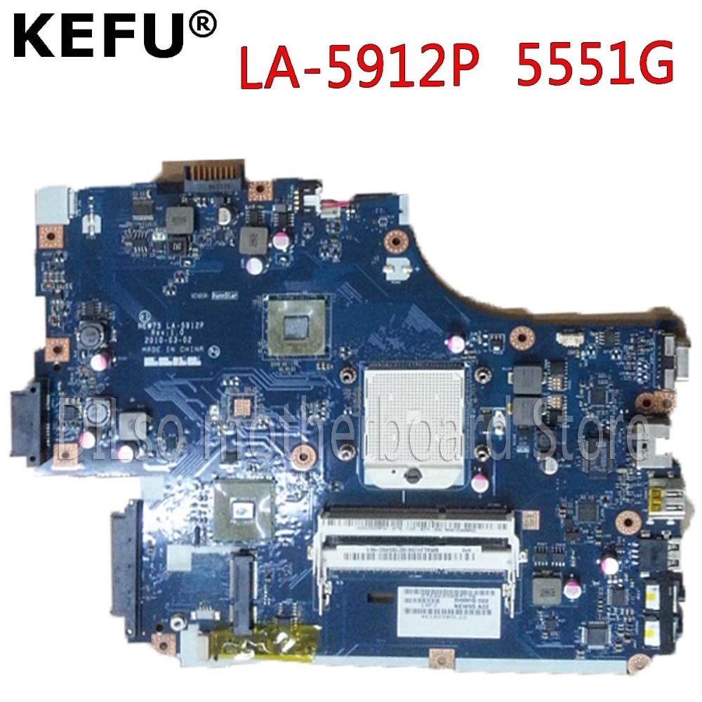 KEFU MBBL002001 LA-5912P mainboard For Acer Aspire 5551 5551G LA-5912P laptop motherboard GM Test work 100% original boccia часы boccia 3585 03 коллекция titanium