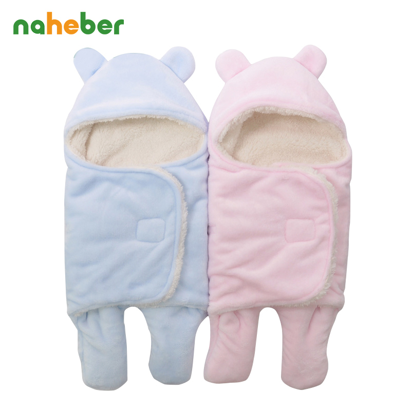 Baby Swaddle Blanket Envelope For Newborns Warm Flannel Baby Sleeping Bag For Winter Wrap For Infant Sleep Sack For Stroller baby quilts sleeping bag for stroller blanket winter infant sleeping sack newborn sleepsacks warm muslin cotton baby sleep nest