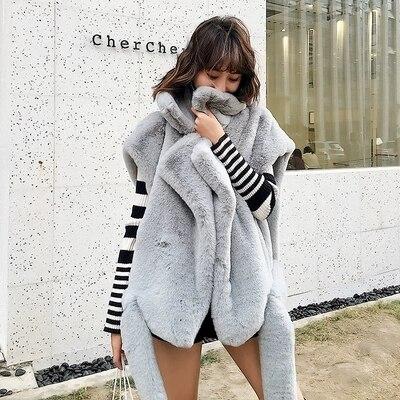 Style C28 Nouveau Gamme Manteau De Haut Femmes Mode En Fourrure brown Fausse Grey 2018 q5wfBf