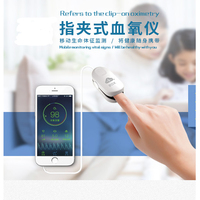 Monitoring of Blood oxygen Heart rate by APP finger clip oxygen Meter for storing and uploading data from Apple Android phone