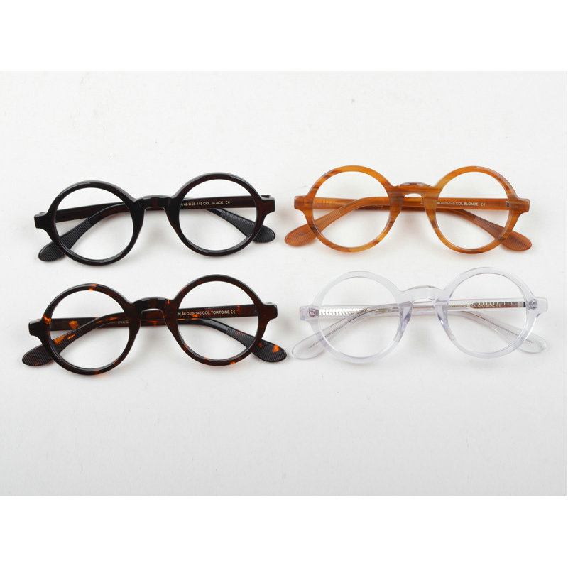 Handmade Acetate Glasses Men Prescription Eyewear Optical Frames glasses Vintage Round Eyeglasses With box NX