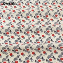 Booksew Cotton Poplin Fabric White Children's Bed Sheets Dress Patchwork Different Fruits Bedding Home Decoration Crafts Shirt(China)