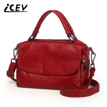 ICEV New Cowhide Women Leather Handbags Genuine Bags Famous Brands Designer Bag High Quality Office Totes