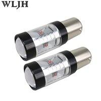 WLJH 2x Red 30W 800lm XBD LED Chip 1156 BA15S P21W LED Car Brake Tail Light