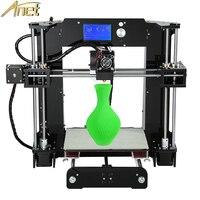 Anet A6 A8 Reprap i3 impressora 3D Printer DIY full kit/set (not assemble) Large Print Size Gift Filament SD Card 3D Printer Kit