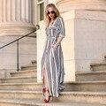 2016 nova moda feminina verão dress maxi causal manga comprida beach dress bohon dividir side slit longo vestidos maxi vestido de verão 41