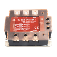 SSR-3PH80DA-H 3 Three Phase AC Solid State Relay Motor Soft Starter Input 4-32VDC Output 90-480VAC 80A DC to AC SSR Relay