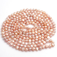 8-9 MM naturales de agua dulce collar de perlas para la mujer de la Yoga Meditación Collar regalo de La Joyería DIY 80 pulgadas libre gratis
