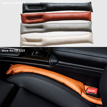 Universal Car PU Leather Seat Cushion Crevice Gap Stopper Leakproof Strips Protector Car Seat Cover Pad Black Beige Brown