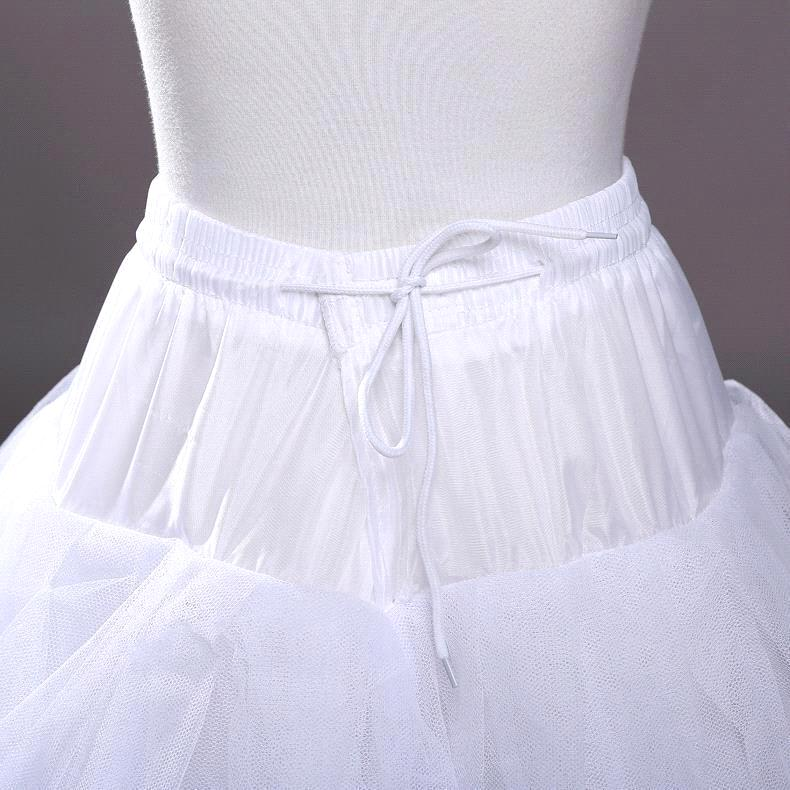 Купить с кэшбэком 3 Layers Ball Gown Petticoats Womens White Hoopless Underskirt Wedding Dress Petticoat Slip Crinoline Bridal Wedding Accessories