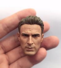 1/6 Captain America Chris Evans Head Sculpt Fit for Muscle Figure Body toys
