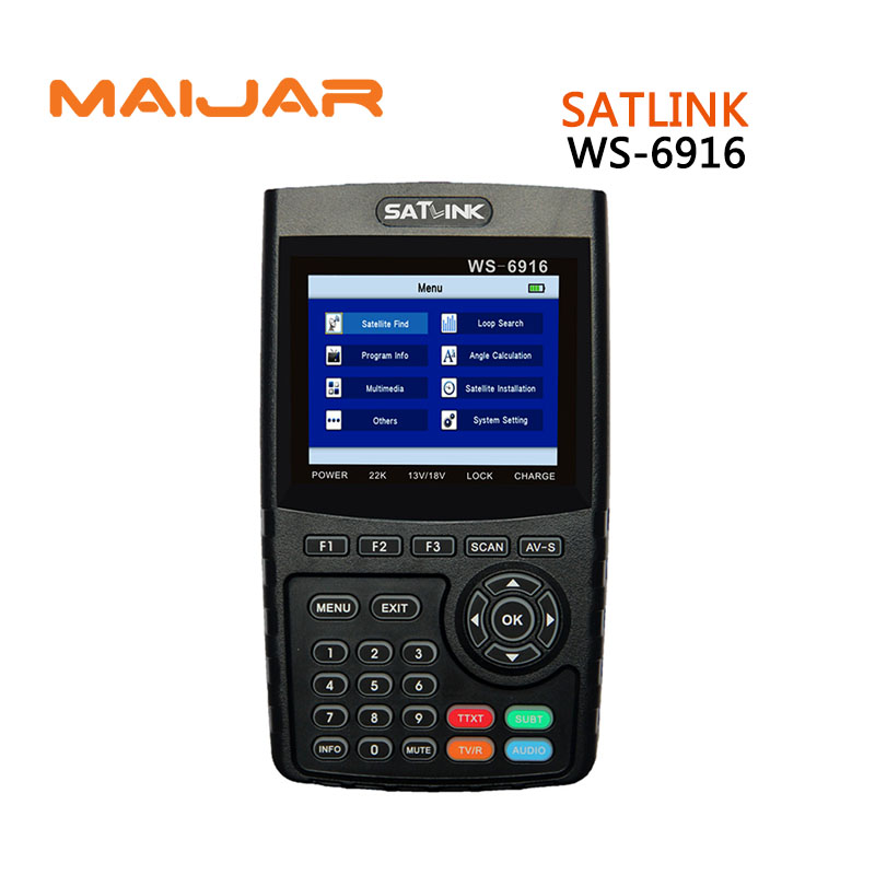 Original Satlink WS-6916 fully DVB-S/S2 HD Satellite Finder with MPEG-2/MPEG-4 compliant  backlight Satlink 6916 Meter original satlink ws 6965 digital satellite meter fully dvb t