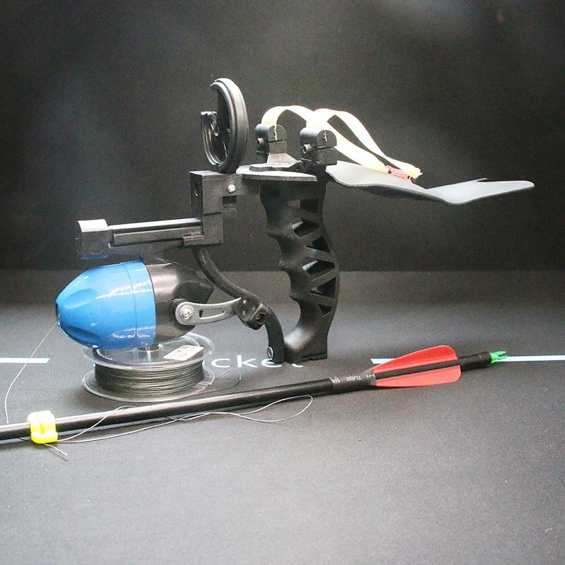 Fishing Slingshot Accurate Sling Shot with Fishing Wheel Slingshots Fishing Accessories Set Powerful Shooting Slingshot Catapult