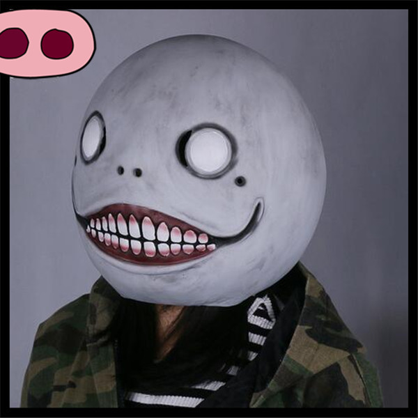 Cos Hot Game NieR: Automata Masks Cosplay Emil Mask Helmet 1:1 Latex Halloween Party Cosplay Movie Funny Clown Mask Joker Face