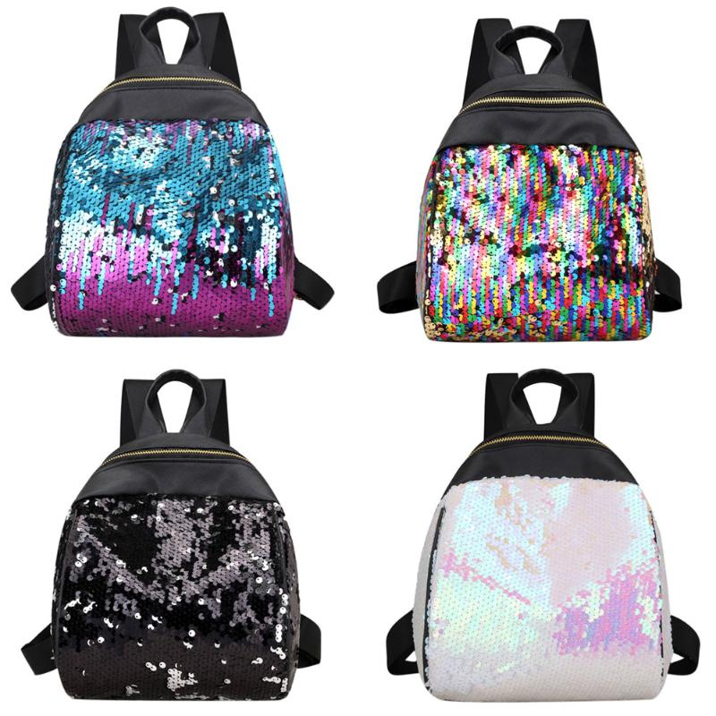 New Sequins Backpack Bling Glitter Women Teenage Girls School Bag Small Travel Bags Zipper Colorful Small Rucksack Mochila classic animation hercules baby pegasus plush white horse toys 33cm pelucia plush toys for children kids toys gift