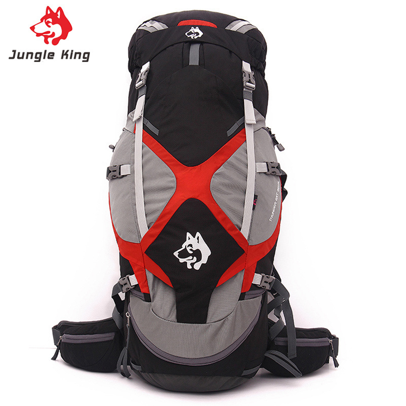 JUNGLE KING 60+5L Outdoor Backpack Professional Tear-proof Nylon Bag Hunting Backpacks Camping Climbing Men jungle king 32l professional outdoor climbing backpack 3 colors camping hiking backpack for men and women package waterproof