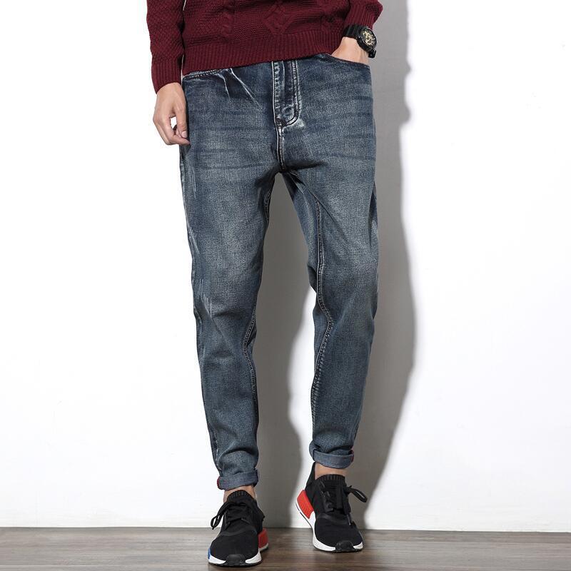 Stretch font b Men b font font b Jeans b font Male Big Size Plus Long