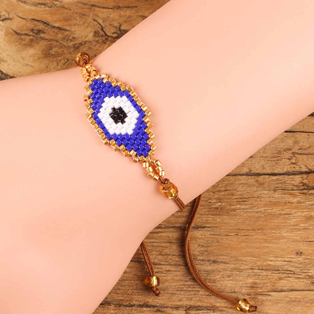Shinus Evil Eye Bracelet MIYUKI Bracelets Pulseras Turkish Evil Eye Bracelets For Women Bohem Bileklik Summer Jewelry 2019