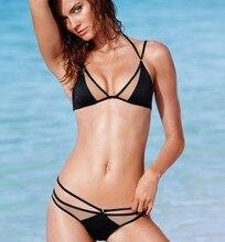 Hot Black Bikinis Set Mesh Patchwork Women Swimsuit Sexy Transparent No Bra Swimwear Women Bathing Suit maillot de bain M61016