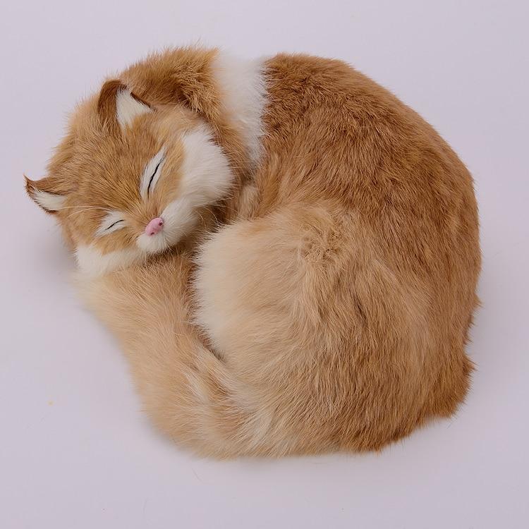 ФОТО new yellow simulation cat model plastic&fur sleeping cat gift 25x20x11cm a103