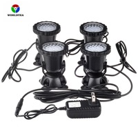 1 Pin 4 36LED RGB Submersible Spotlight Underwater Colorful Landscape Light Lamp Outdoor Lighting For Aquarium