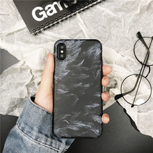Mr. Orange fashionable feather phone case For iphone X XS XR MAX luxury IMD soft shell 6 6s 7 8plus frosted cover