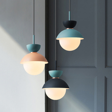 Lámpara colgante de macarrón con personalidad creativa de estilo nórdico para dormitorio o noche
