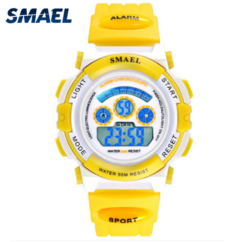 Girls Outdoor SMAEL LCD Digital Watches Children 50M Waterproof Wristwatches Shock Resistant Free Gift Box for Watches Girls0704 Islamabad