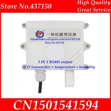 3 IN 1 Electrochemical Carbon monoxide CO transmitter + temperature + humidity modbus RS485 output  gas pollution detection