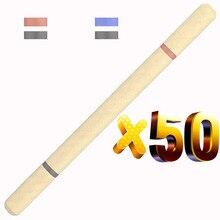הרבה 50 יחידות כפולה מילוי Eco כדור עט, נייר ממוחזר כדור עט, רב צבע כדורי, קידום מכירות מותאם אישית מתנה, לפרסם בגידה