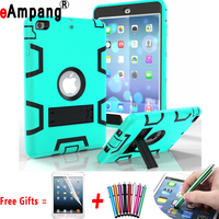 For Apple iPad Mini 2 Mini 3 7.9 inch Cover Case Silicon Kids Safe Stand Case Cover + Screen Protector Film Stylus Pen Gifts