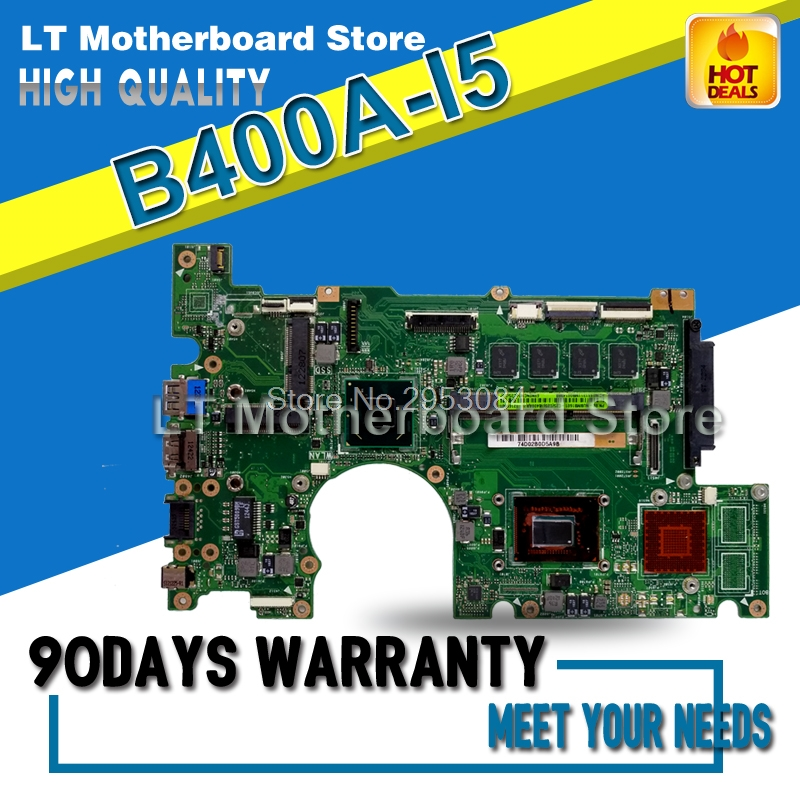 Laptop Motherboard For ASUS B400A i5 System Board Main Board Mainboard Card Logic Board Tested Well d05021b maine board fittings of a machine tested well original