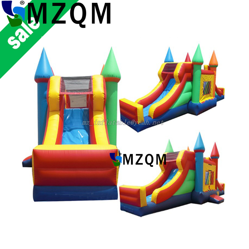 MZQM free sea shipping to port,commercial rental  inflatable bounce house,inflatable bouncer slide  free sea shipping giant durable kids hinchables inflatable bounce house water slide
