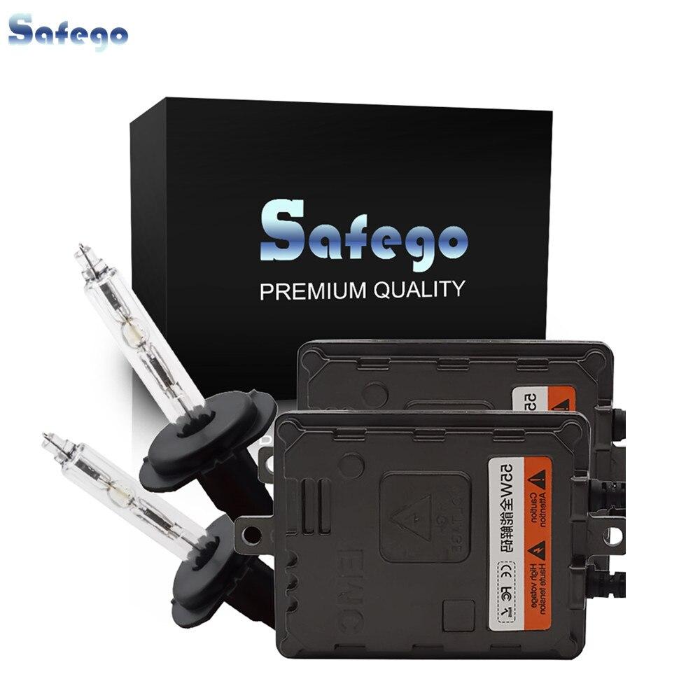 55 W H7 caché xénon Kit de Conversion-Safego6000K blanc chaud HID ampoules AC haute qualité Canbus HID Ballast 55 watts lumières lampe pour voiture