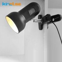 New Portable LED Desk Clip Lamp Adaptor EU US Plug Rotating Table Light Clip Table Desk Book Reading Light Study Home Lighting