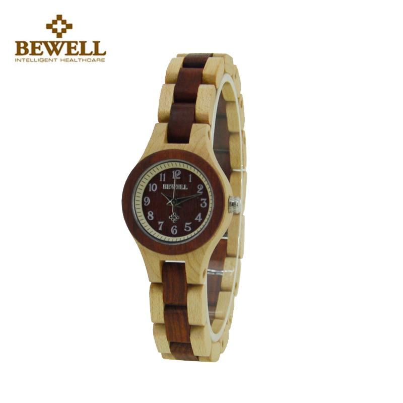 BEWELL Watch Women Simple Vogue Wood Watch Exquisite elegant Ladies Quartz Watch Wooden Women's Clock reloj relogio femenino lucky 2015 vogue reloj lucky12