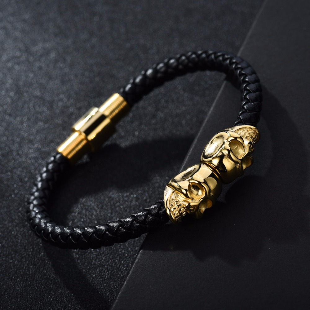 swarm bracelet swarovski men crystal gold skull jewelry northskull north skuii for in g