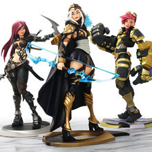 25CM lol Game character model Figure ashe and Catalina.Vialpando and Vi The Piltover Enforcer PVC Action Figures toys dolls(China)