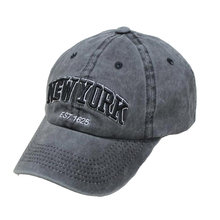 BINGYUANHAOXUAN Sand Washed 100% Cotton Baseball Cap For Women Men Vintage Dad Hat NEW YORK Embroidery Letter Outdoor Sports Cap