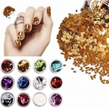 Hot item! 12 Colors Nail Art Rhombus Glitter Shape Sequins Powder Decoration Tips DIY