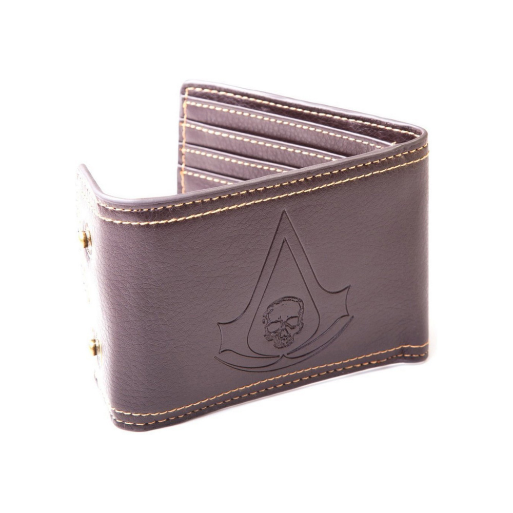 Assassins Creed wallet with tag movie game mens Purse pu mans gift wallet coin clutch Bank card Wallet BuckleShort Wallet