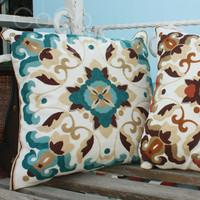 Cocostyles InsFashion stunning handmade knitting cushion with colorful pattern for modern mid east style home decor