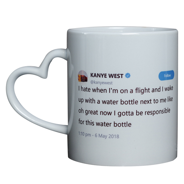 mayrey customized mug personalized coffee cup ceramic photo mug kanye west twitter coffee mug creative gift