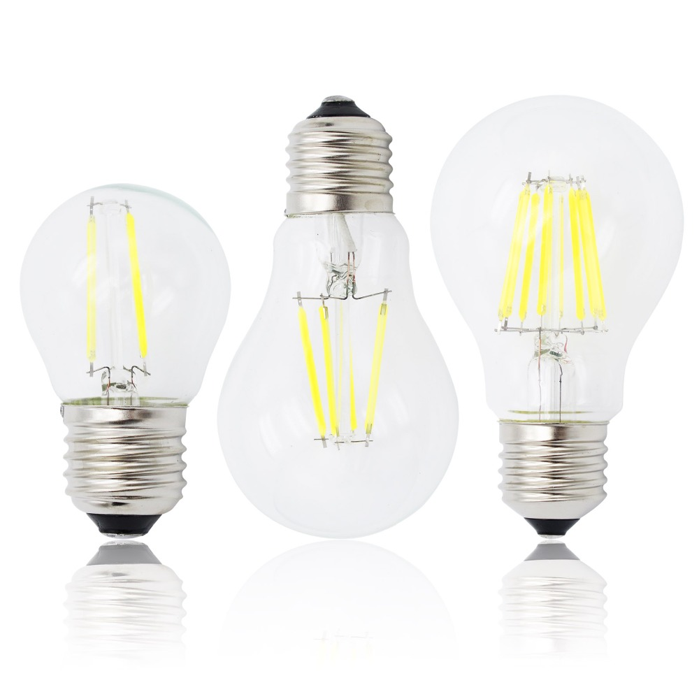 Light-Chandeliers Bulb Replace E27-Lamp Led Filament Retro-Glass Dimmable Incandescent