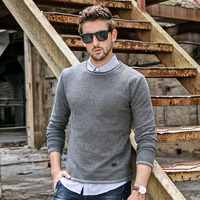 GustOmerD Sweater Men 2018 New Casual Pullover Men Autumn Round Neck Solid Color Quality Knitted Brand Male Sweaters