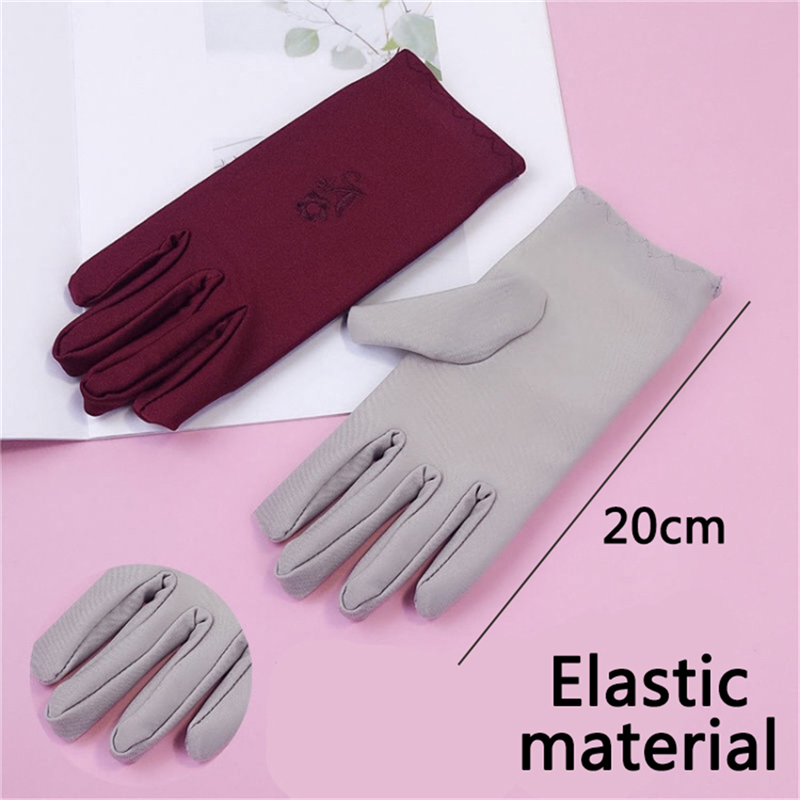 Embroidery Womens Gloves Short Sexy Thin Gloves Summer Gloves Driving Guantes Conducir Guantes Decuero Mujer in Women 39 s Gloves from Apparel Accessories